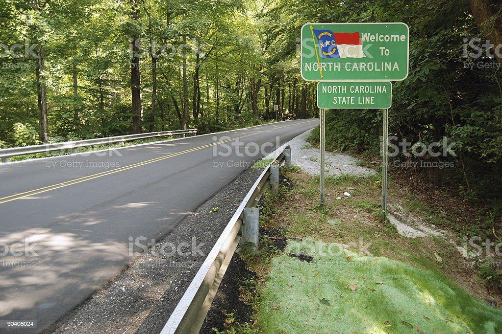 Welcome to North Carolina stock photo