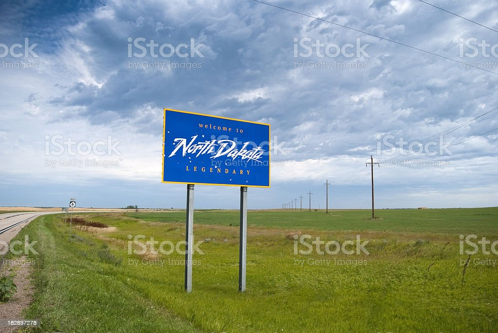 Welcome to North Dakota stock photo