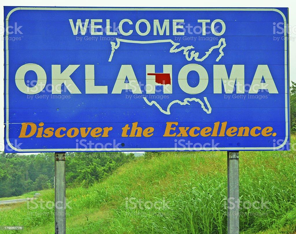 Welcome to Oklahoma stock photo