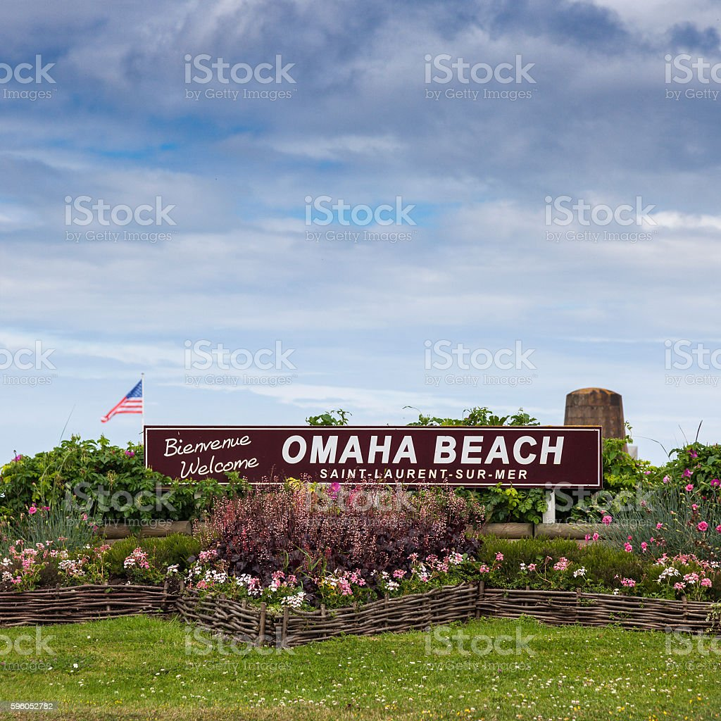 Welcome to Omaha Beach stock photo