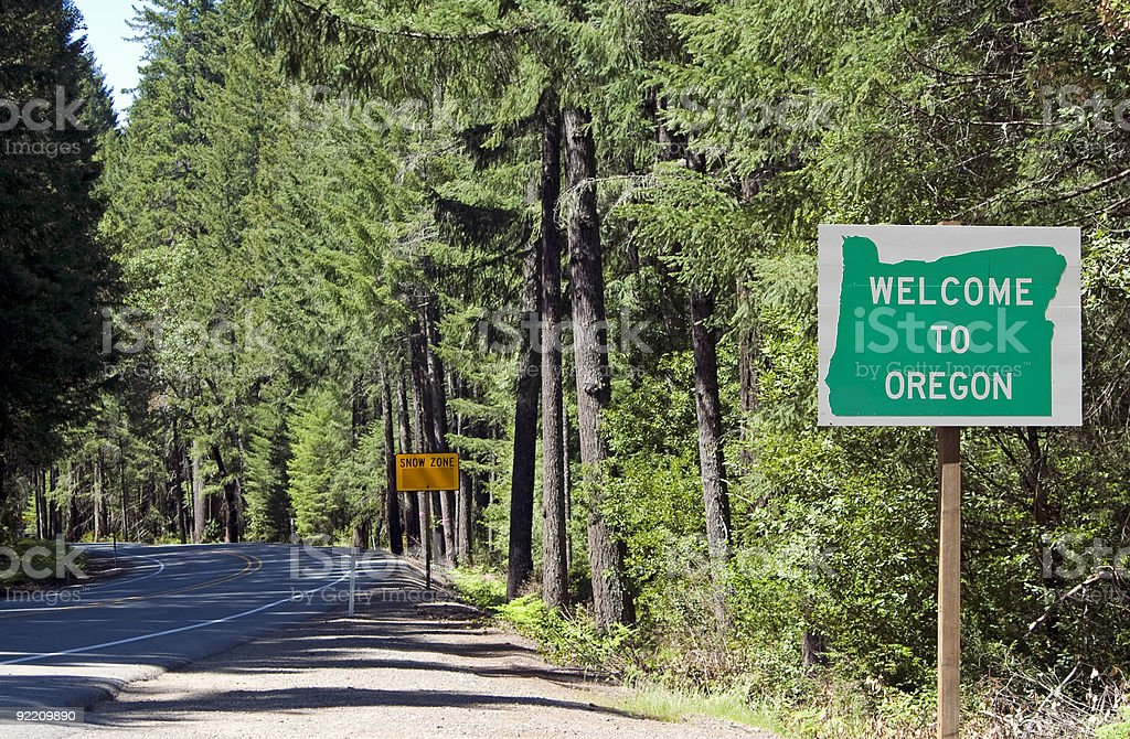 Welcome to Oregon stock photo