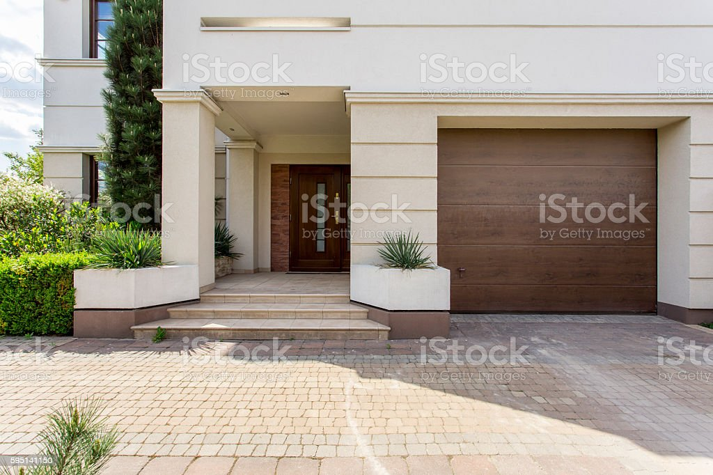 Welcome to our house stock photo