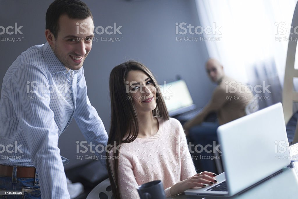 Welcome to our office royalty-free stock photo