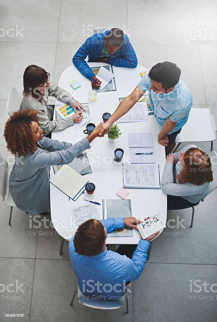 Welcome to our panel! stock photo