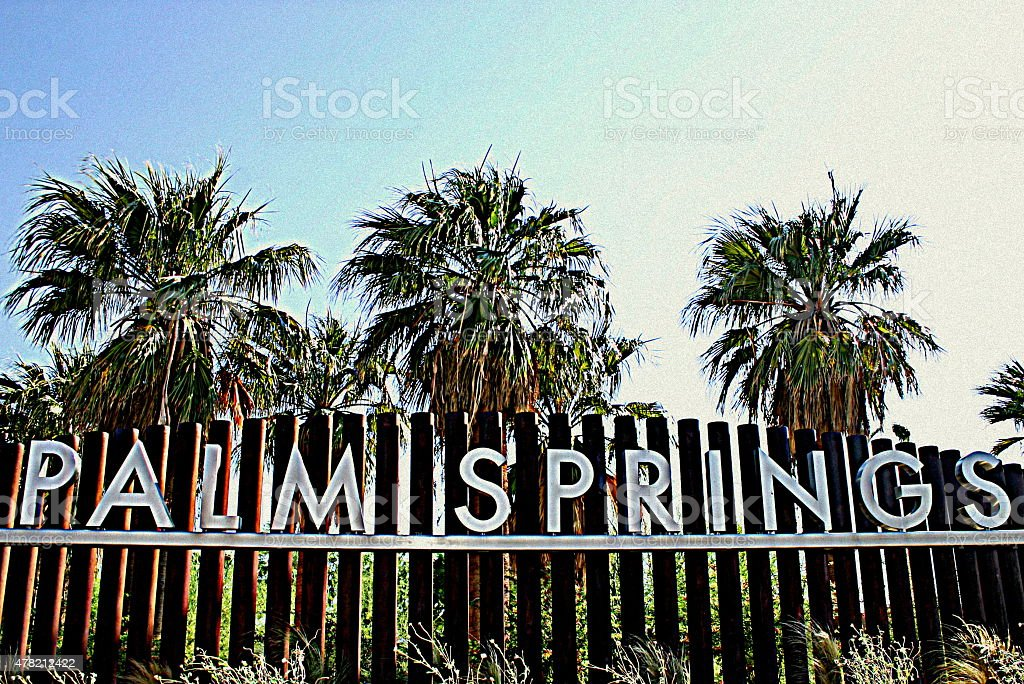 Welcome to Palm Springs stock photo