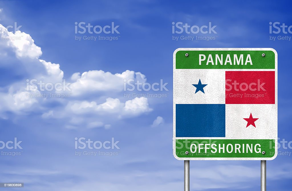 Welcome to Panama - Offshoring stock photo