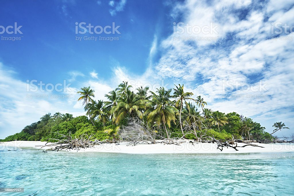 Welcome to paradise stock photo