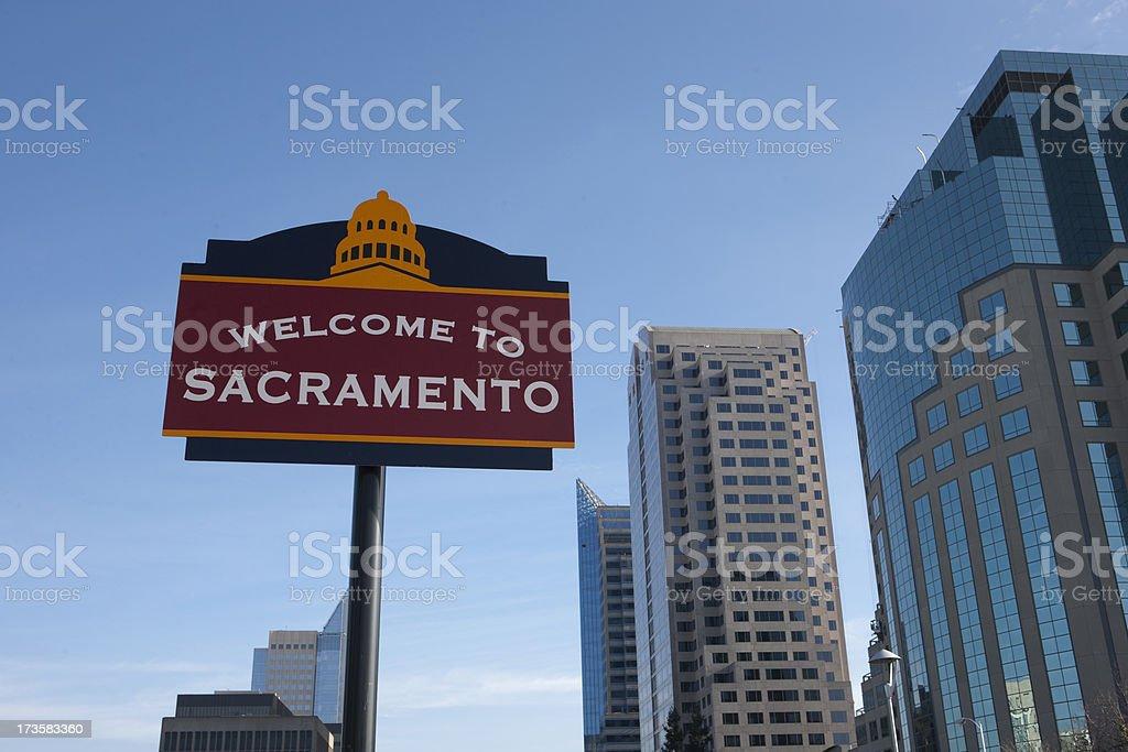 Welcome to Sacramento royalty-free stock photo