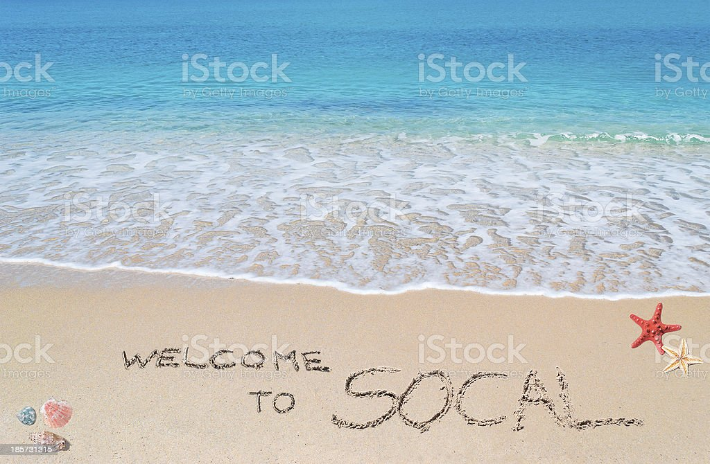 welcome to socal royalty-free stock photo