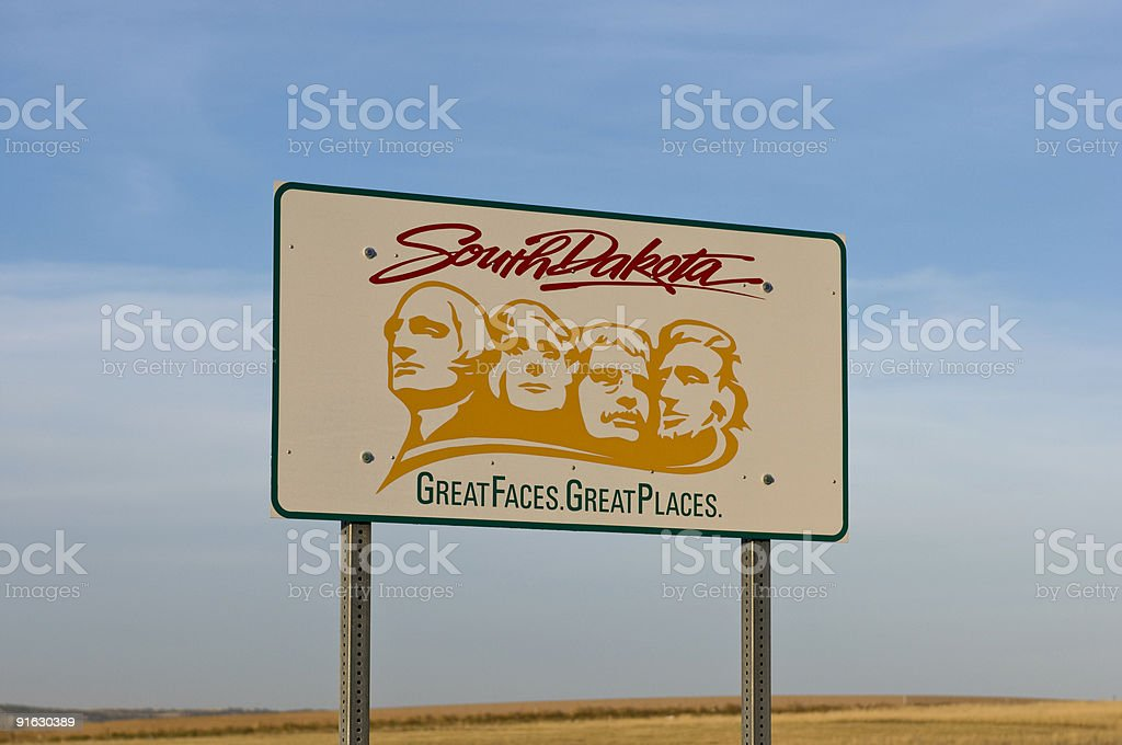 Welcome to South Dakota stock photo