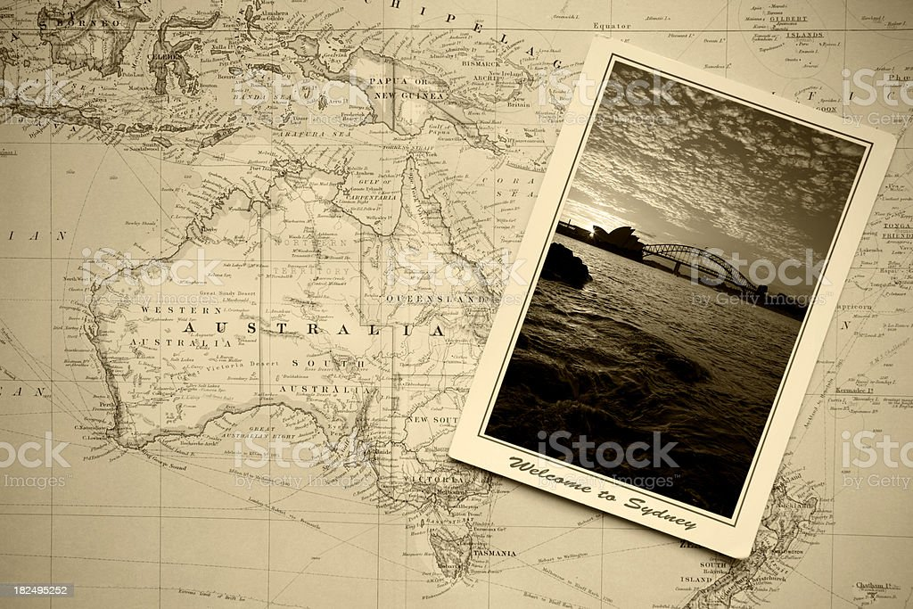 Welcome To Sydney royalty-free stock photo