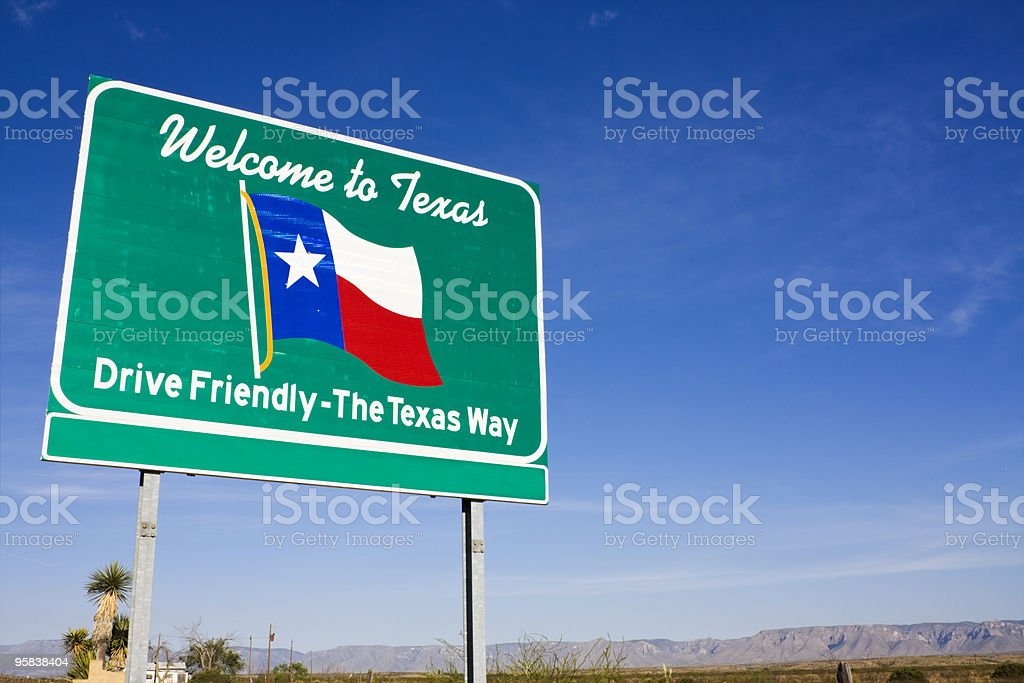 Welcome to Texas royalty-free stock photo