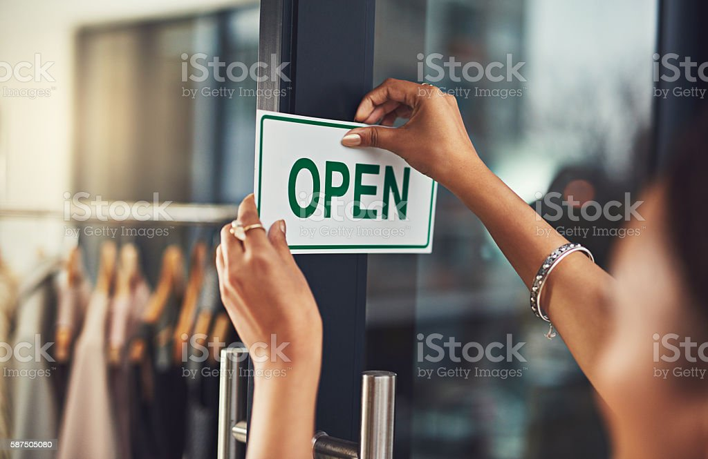 Welcome to the best store in town stock photo