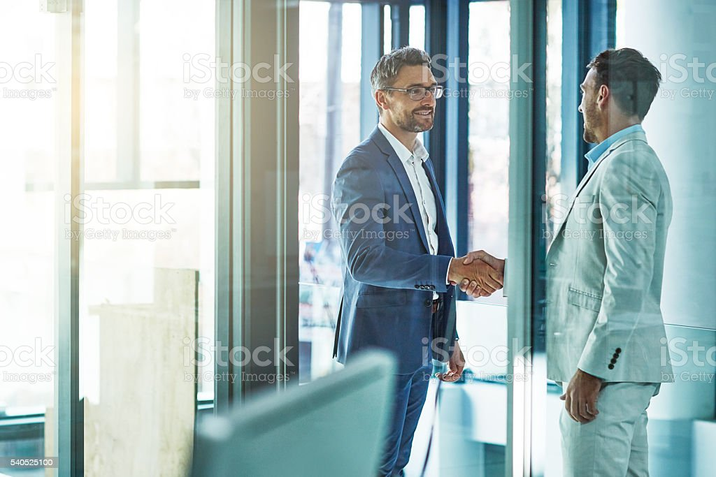 Welcome to the company stock photo