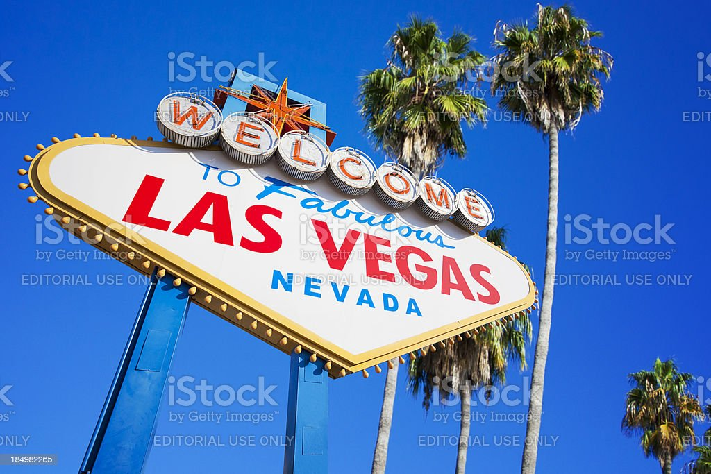 Welcome to the fabulous Las Vegas Nevada sign stock photo