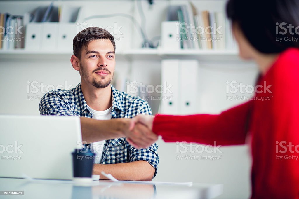 Welcome to the firm stock photo