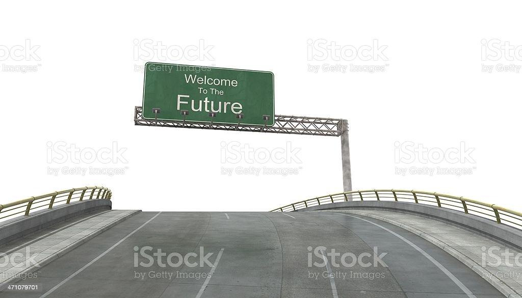 未来へようこそ。 ロイヤリティフリーストックフォト