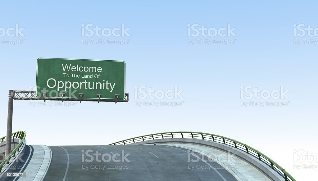 Welcome To The Land Of Opportunity royalty-free stock photo
