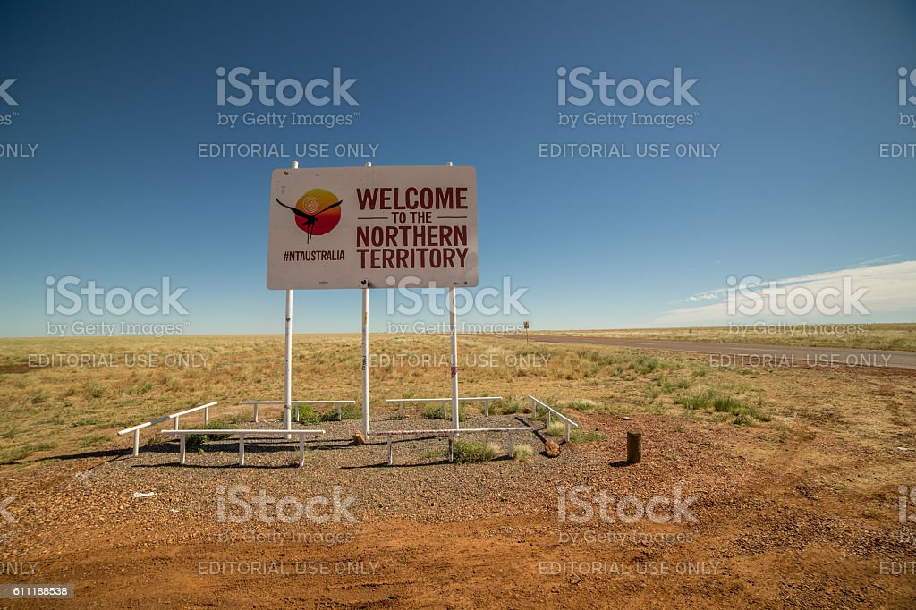 Welcome to the Northern Territory stock photo