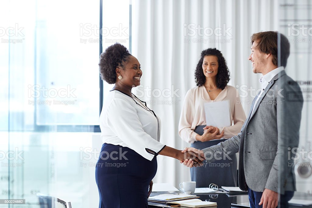 Welcome to the team! stock photo