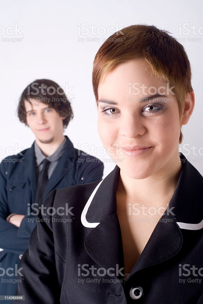 Welcome to the young generation of business stock photo