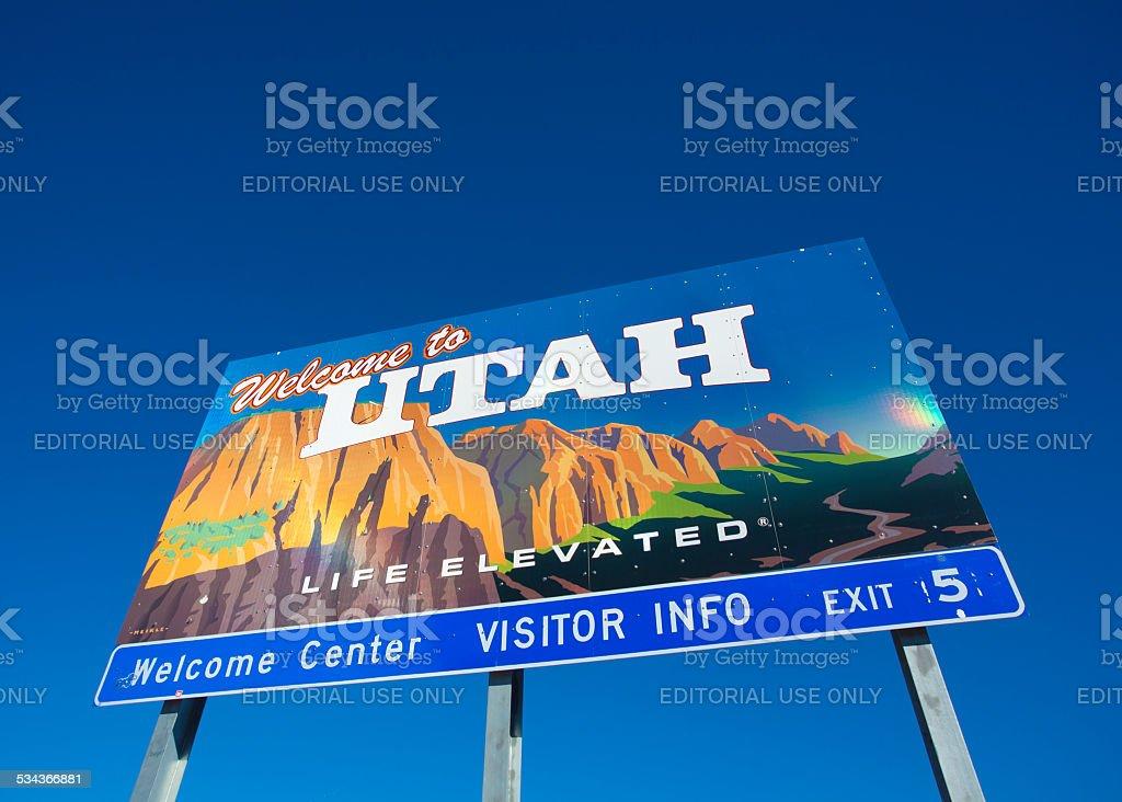 Welcome to Utah stock photo