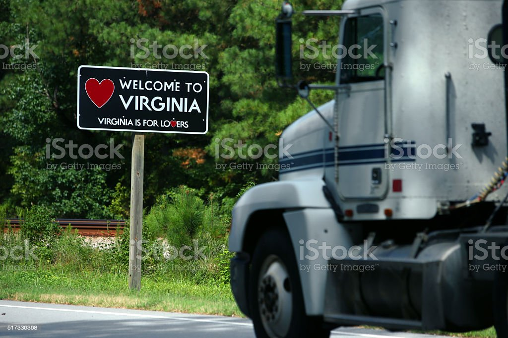 Welcome to Virginia sign stock photo
