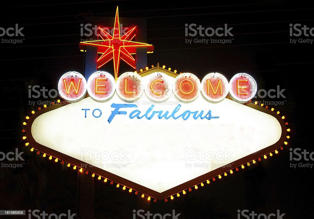 Welcome to ... wherever you want royalty-free stock photo