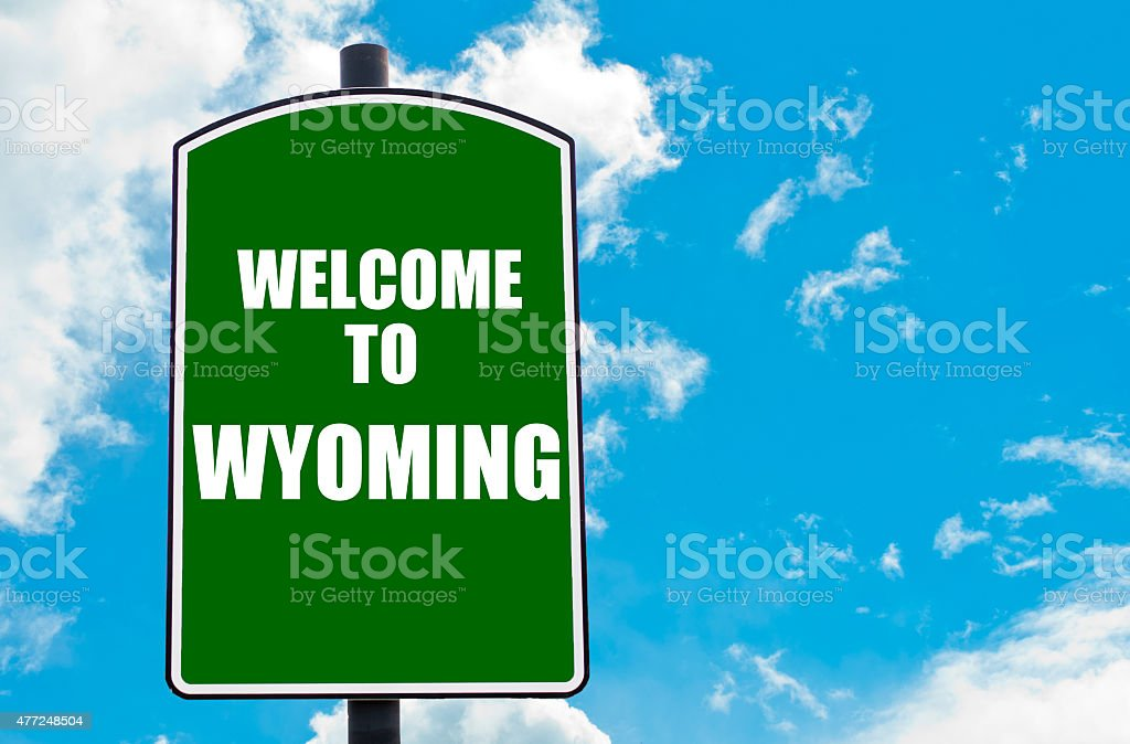 Welcome to WYOMING stock photo