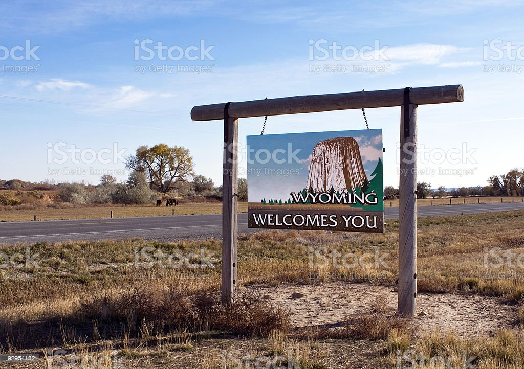 Welcome to Wyoming royalty-free stock photo