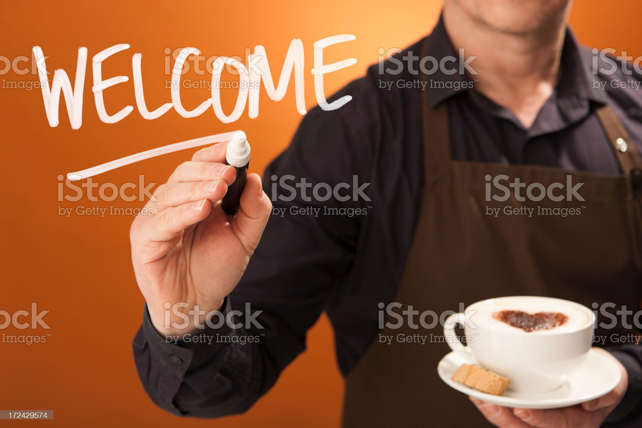 Welcome to your local Independent coffee shop royalty-free stock photo