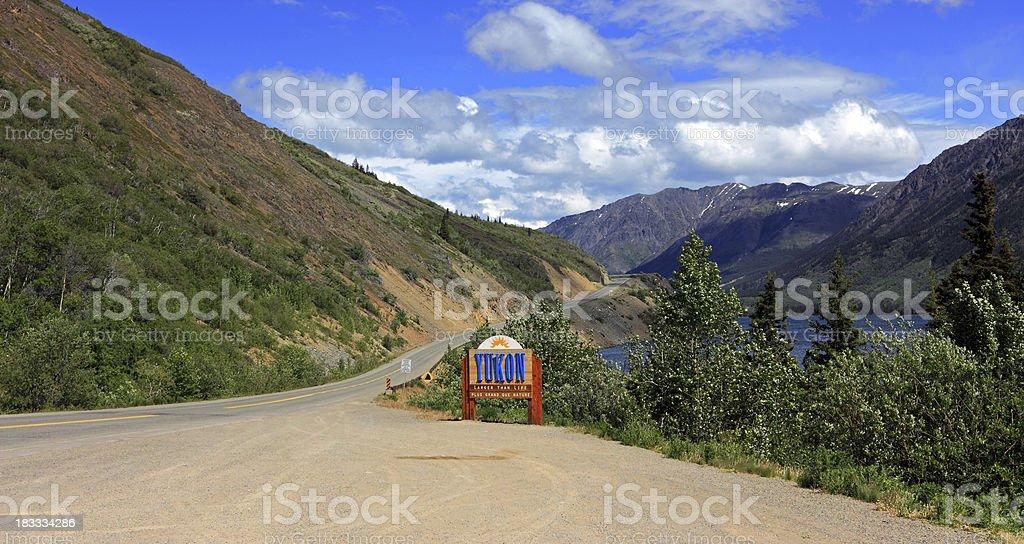 Welcome to Yukon royalty-free stock photo