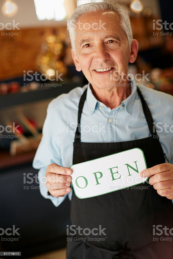 Welcome, we've been waiting for you stock photo
