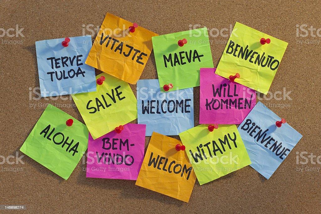 welcome, willkommen, bienvenue, aloha, ... royalty-free stock photo