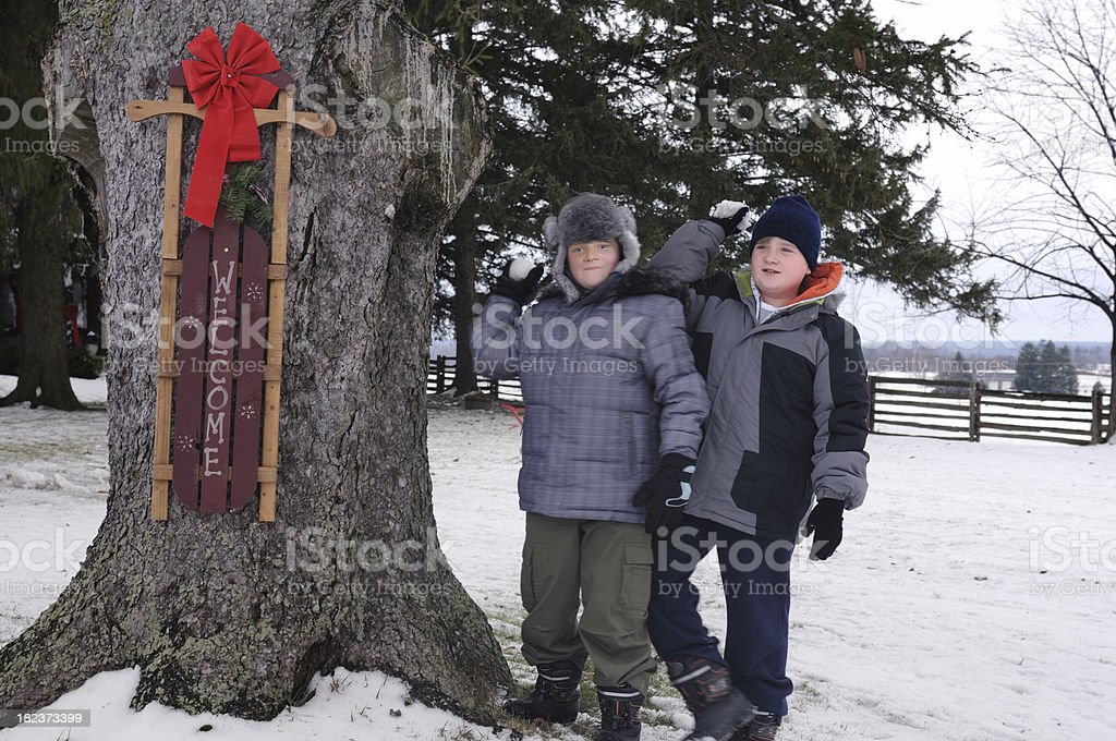Welcome Winter stock photo