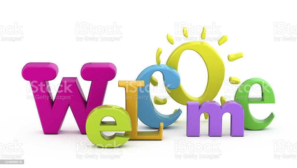 Welcome word. stock photo