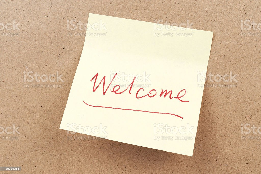 Welcome word royalty-free stock photo