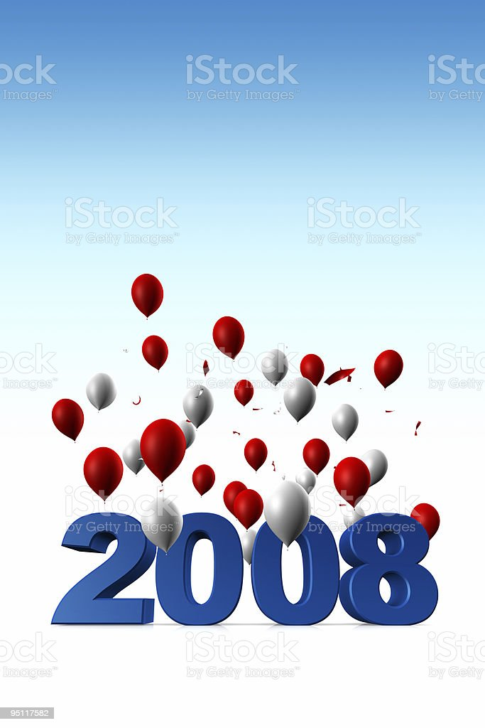 Welcome Year 2008 royalty-free stock photo
