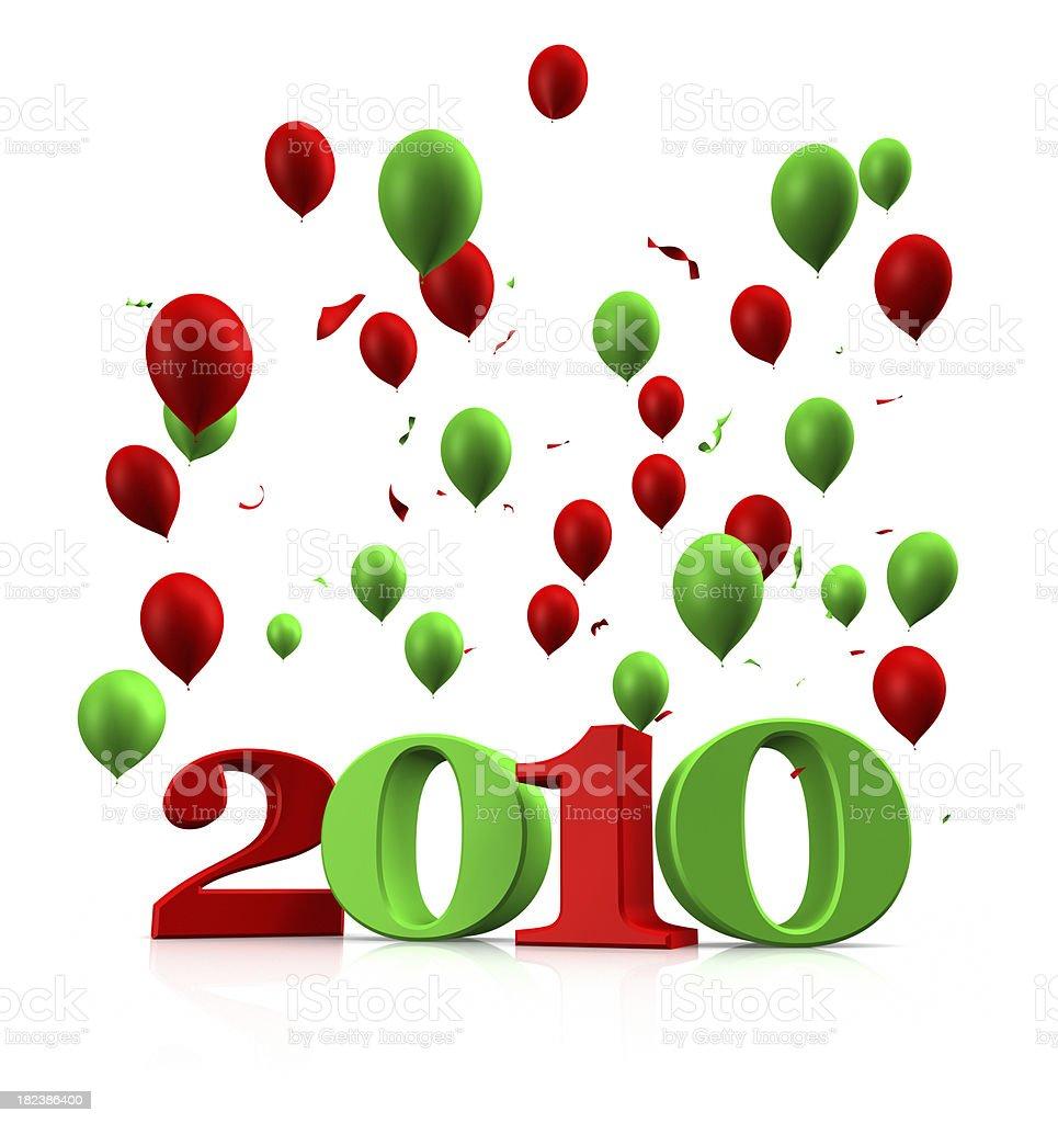 Welcome Year 2010 (XXXL) royalty-free stock photo