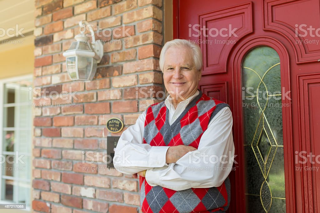 I welcome you to my house stock photo