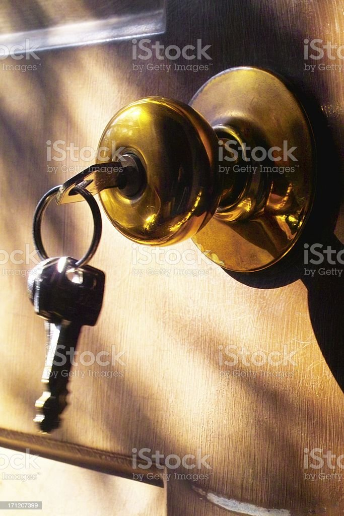 Welcome,this old house royalty-free stock photo