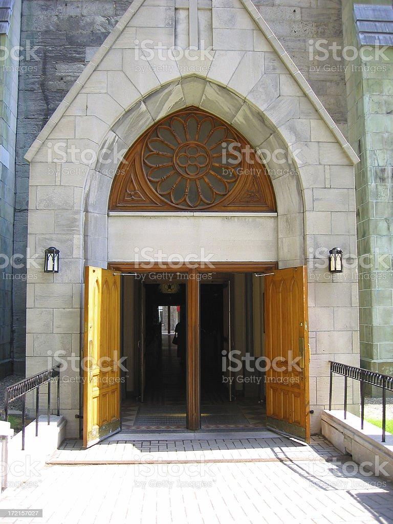 welcoming doors stock photo