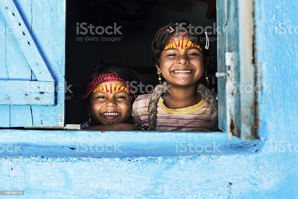Welcoming faces stock photo