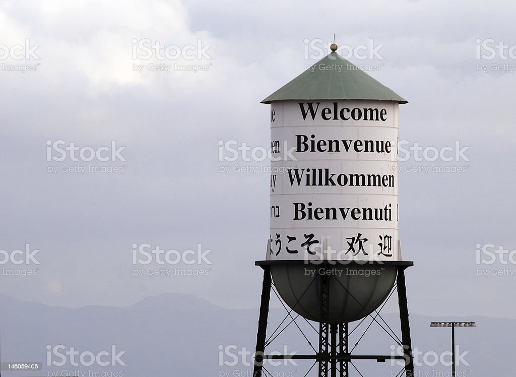 Welcoming Water Tower royalty-free stock photo