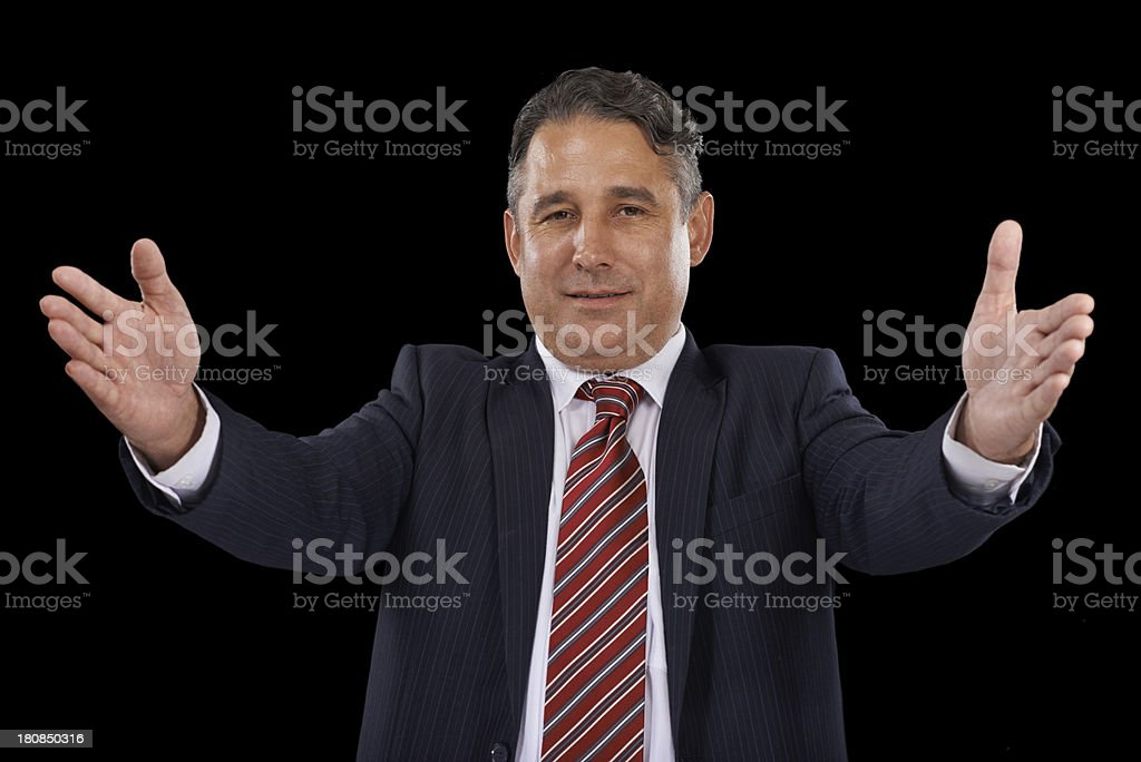 Welcoming you with open arms royalty-free stock photo
