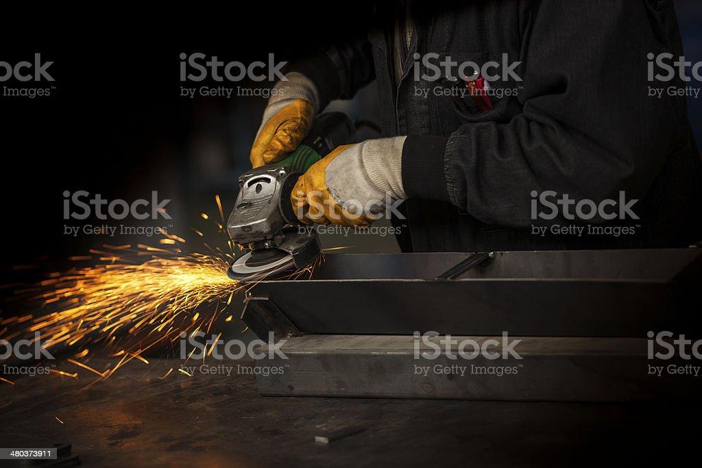 welder background stock photo