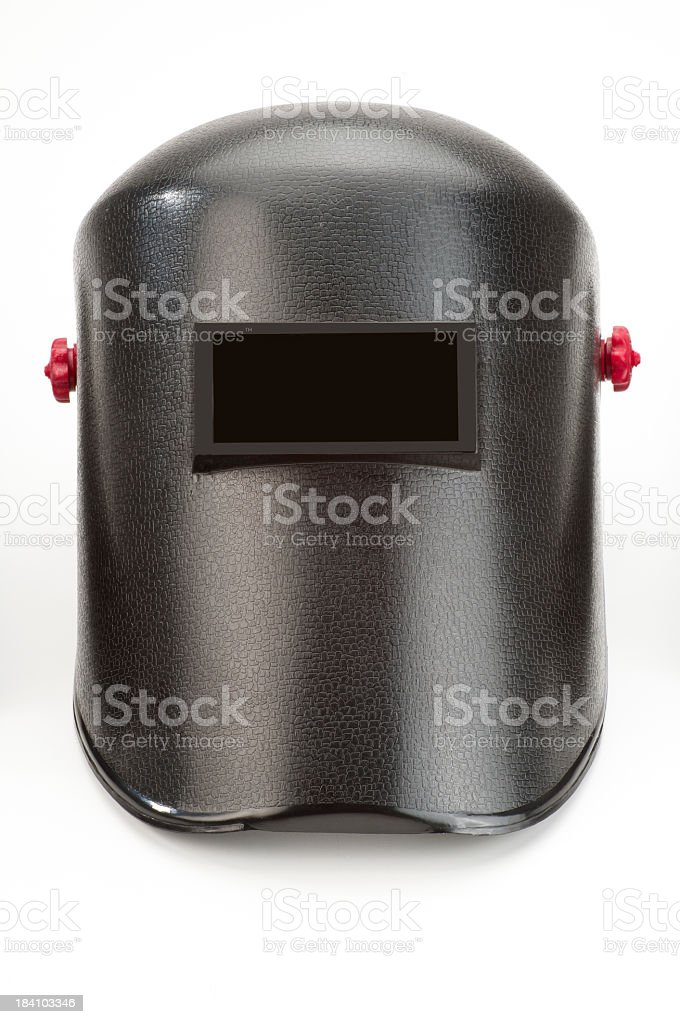 A welder mask on a white background stock photo