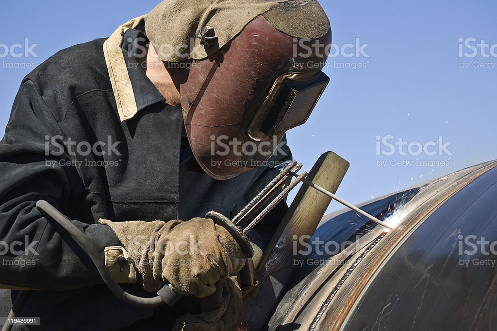 welder of the gasmain stock photo