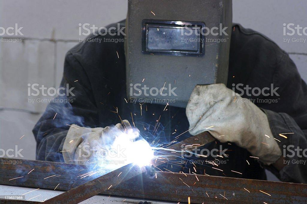 welder royalty-free stock photo