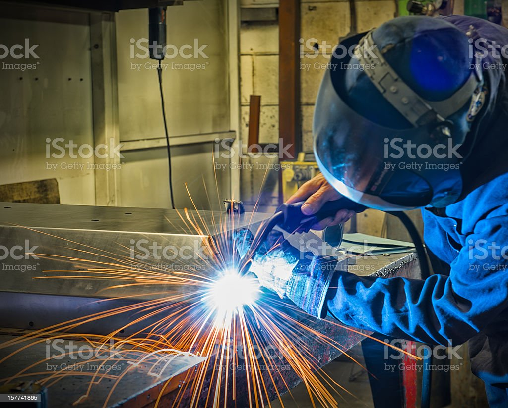 Welder Spot Welding royalty-free stock photo
